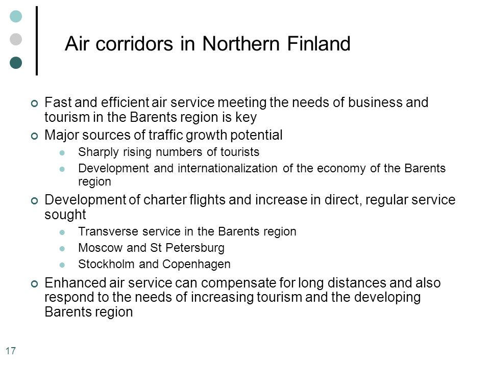 Air corridors in Northern Finland