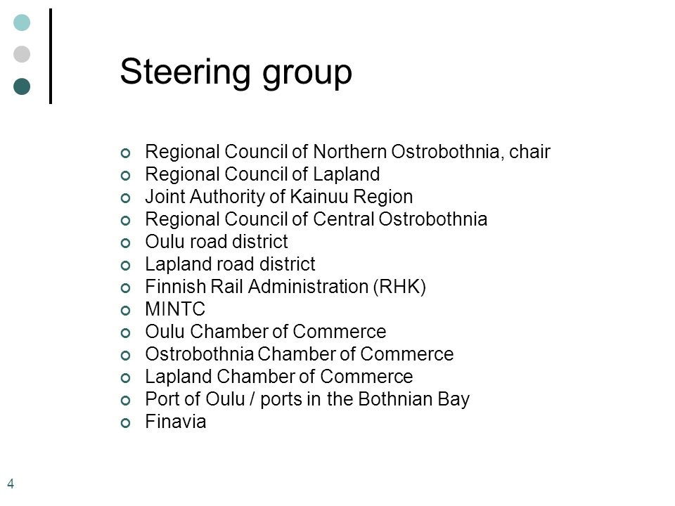Steering group Regional Council of Northern Ostrobothnia, chair
