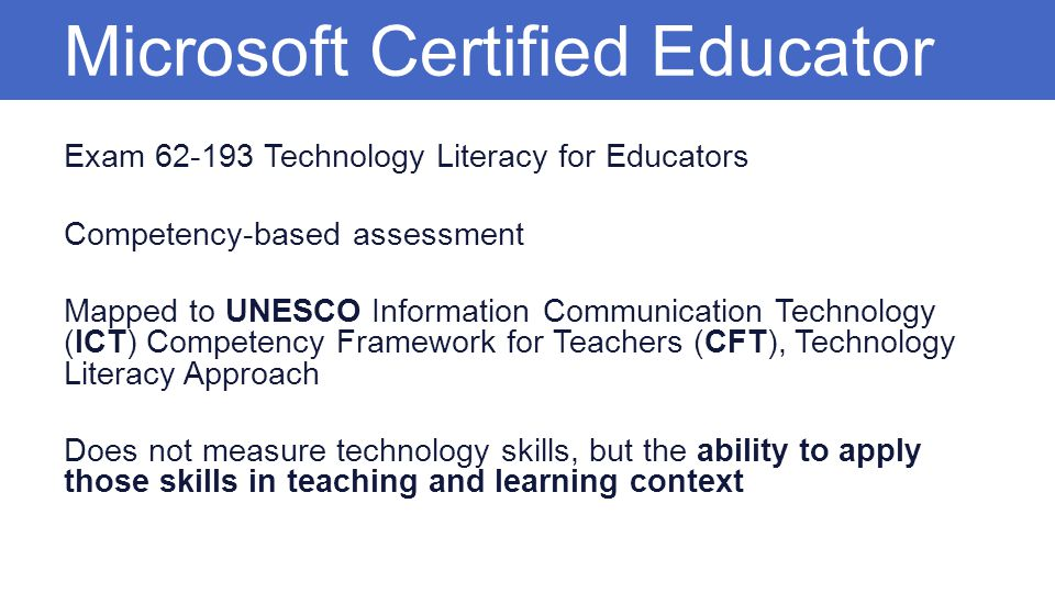 Microsoft Certified Educator Mce Ppt Video Online Download