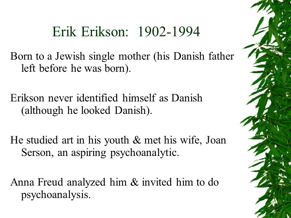 erik erikson educational background