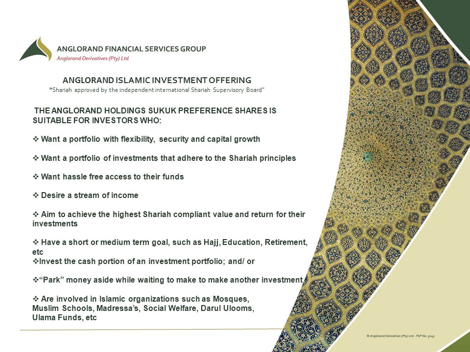 muslim approved investments