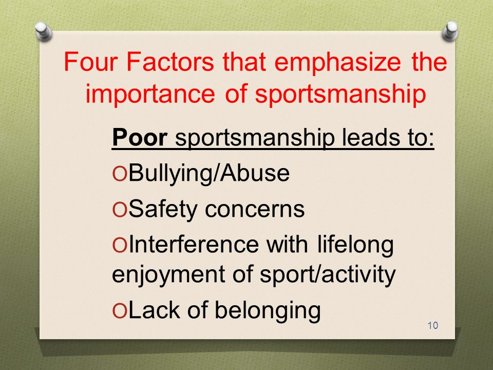 what is the importance of sportsmanship