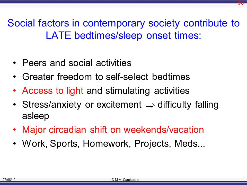 Homework And Anxiety Society >> Why Do Teens Sleep Too Little Biology And Society Ppt Download