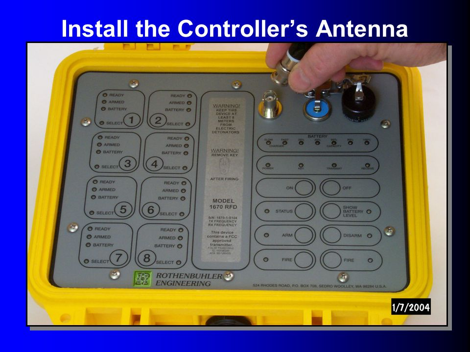 Install the Controller's Antenna