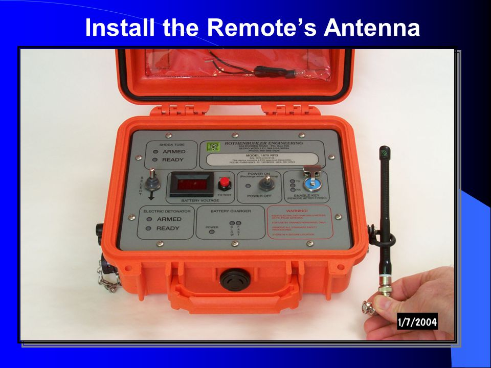 Install the Remote's Antenna