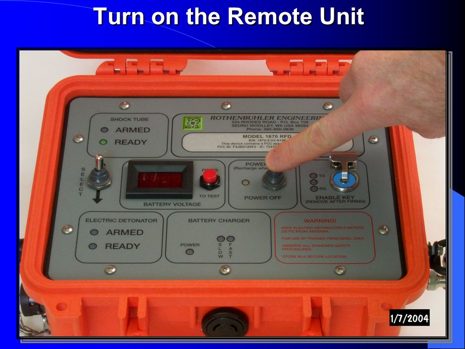 Turn on the Remote Unit