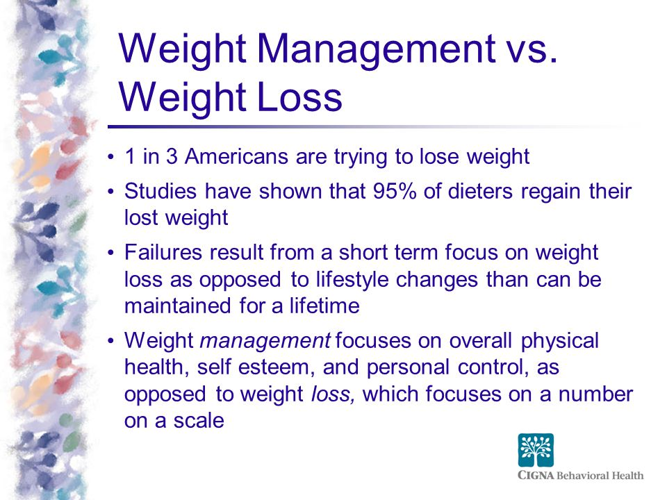 Weight Management vs. Weight Loss