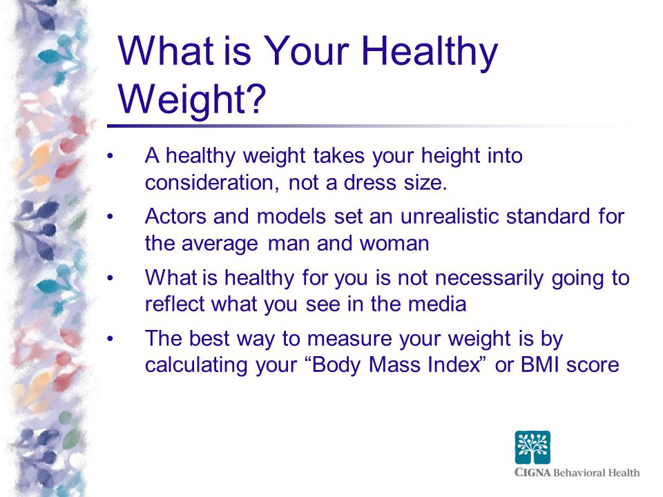 What is Your Healthy Weight