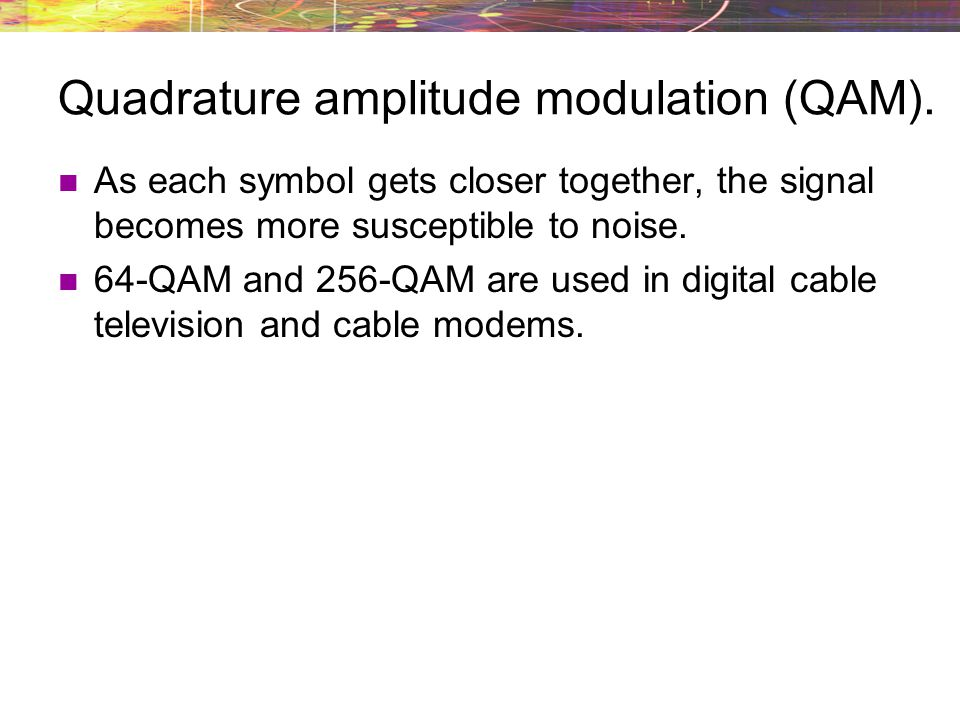 Quadrature amplitude modulation (QAM).