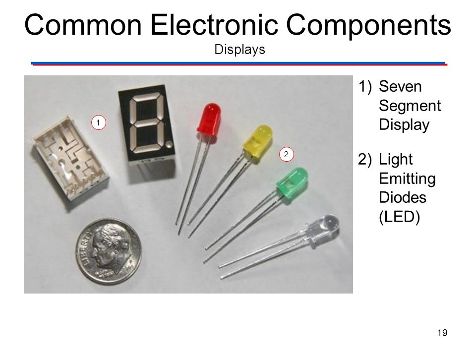 Common Electronic Components Displays
