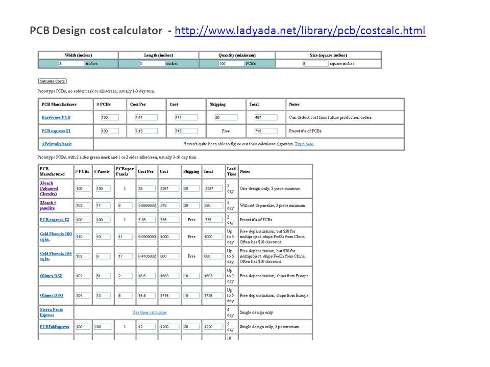 Electronics-lab. Com blog » prototype pcb cost calculator.