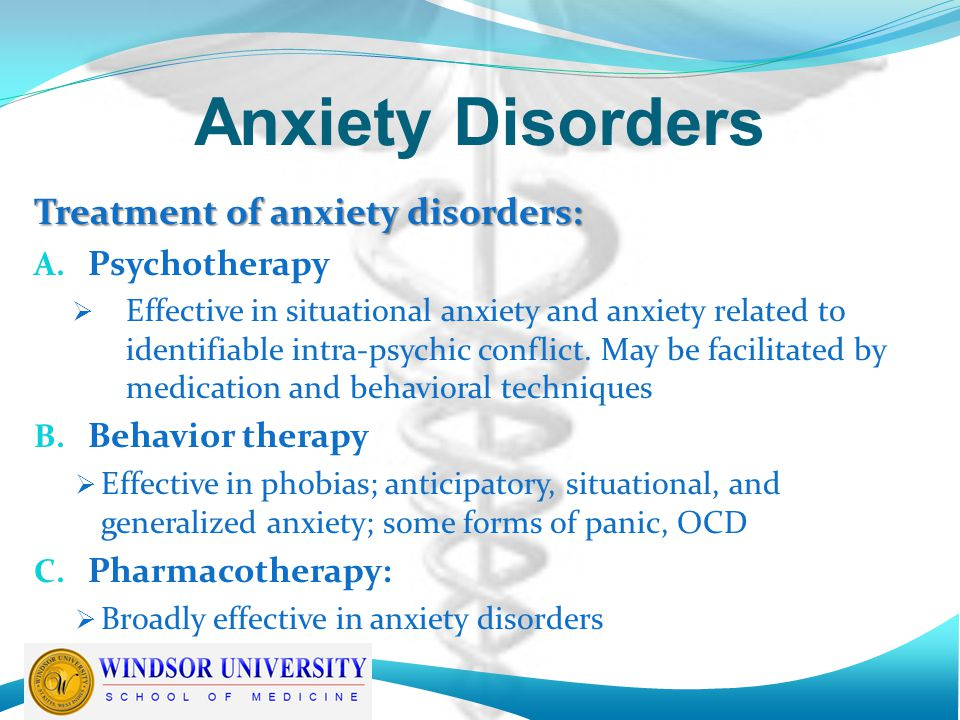 anxiety treatment and provigil medication classification