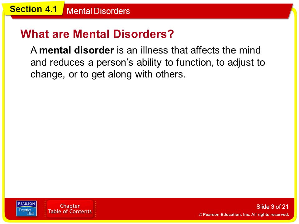 What are Mental Disorders