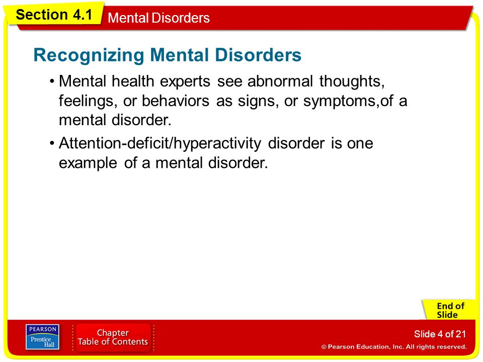 Recognizing Mental Disorders