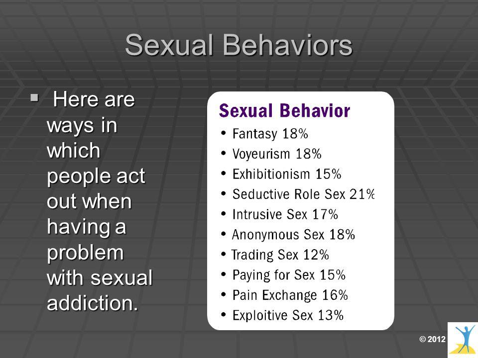 i have a sex addiction problem