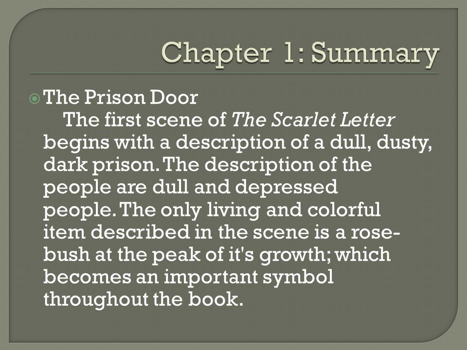 summary of the scarlet letter by isaac venegas and chandler berry ppt 24997 | Chapter 1%3A Summary