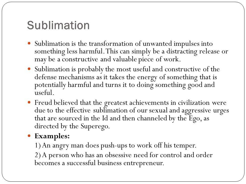 Defense mechanisms sublimation
