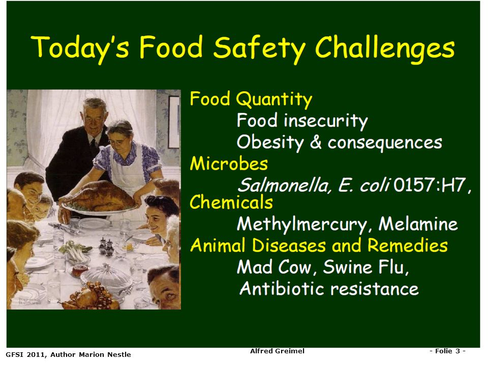 But there a much more: Dioxin, Listeria