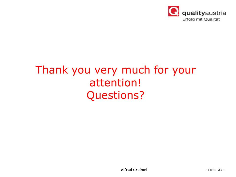 Thank you very much for your attention! Questions