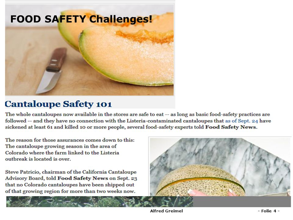 FOOD SAFETY Challenges!