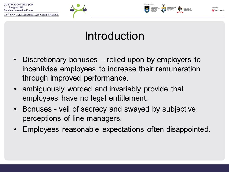 what are discretionary benefits
