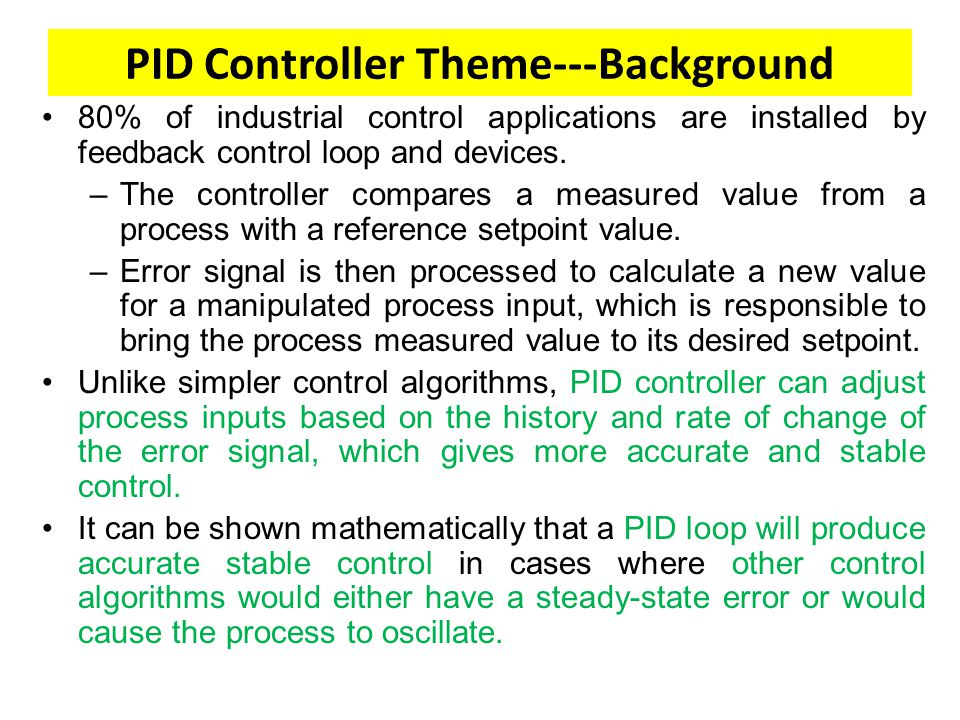 LECTURE#10 PID CONTROLLER - ppt video online download