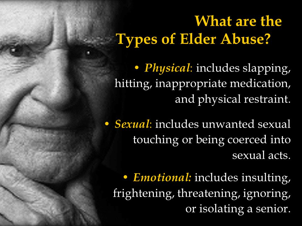What are the Types of Elder Abuse