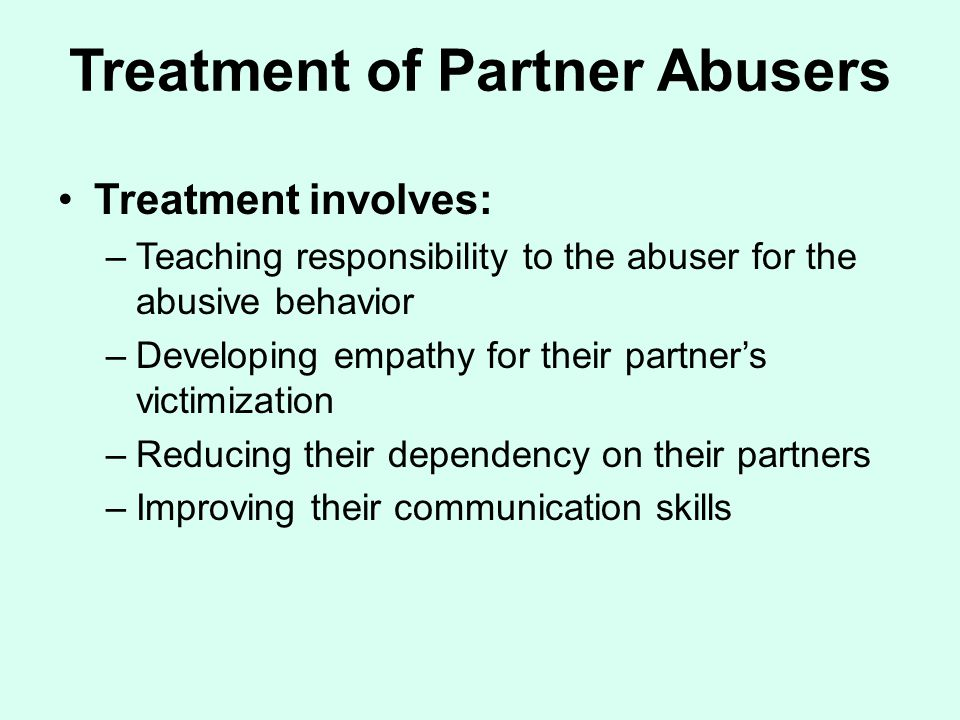 Treatment of Partner Abusers