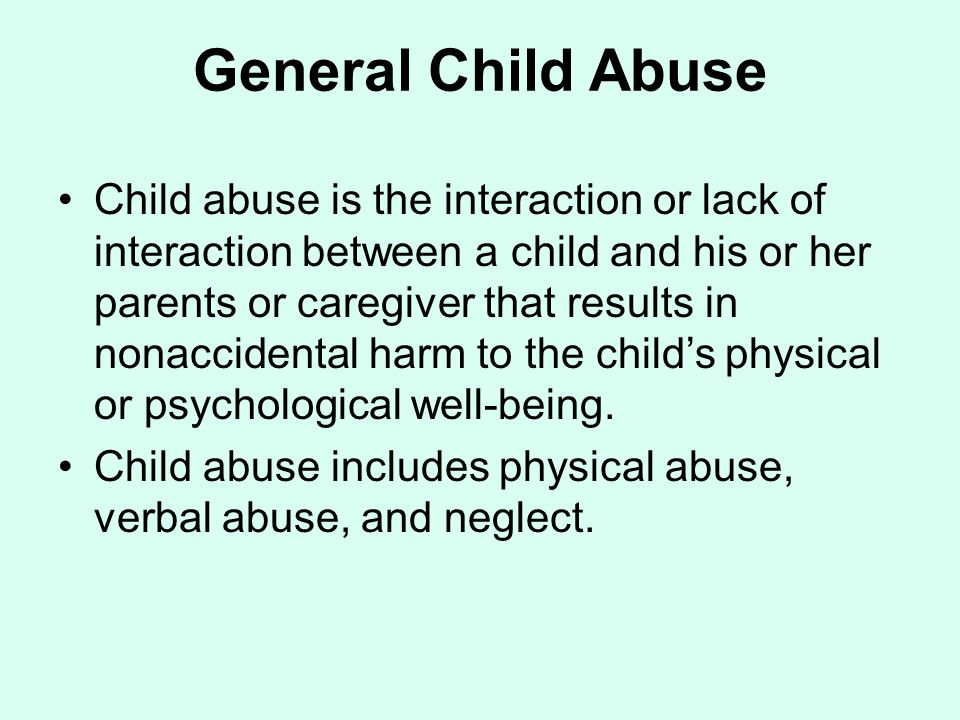 General Child Abuse