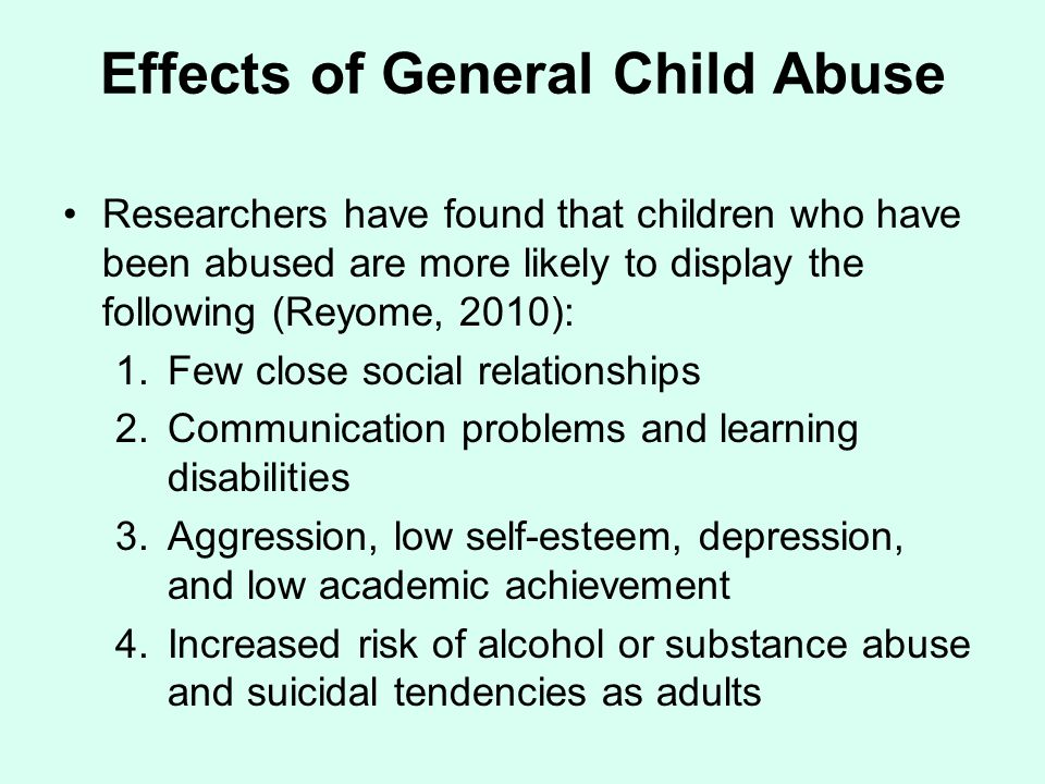 Effects of General Child Abuse