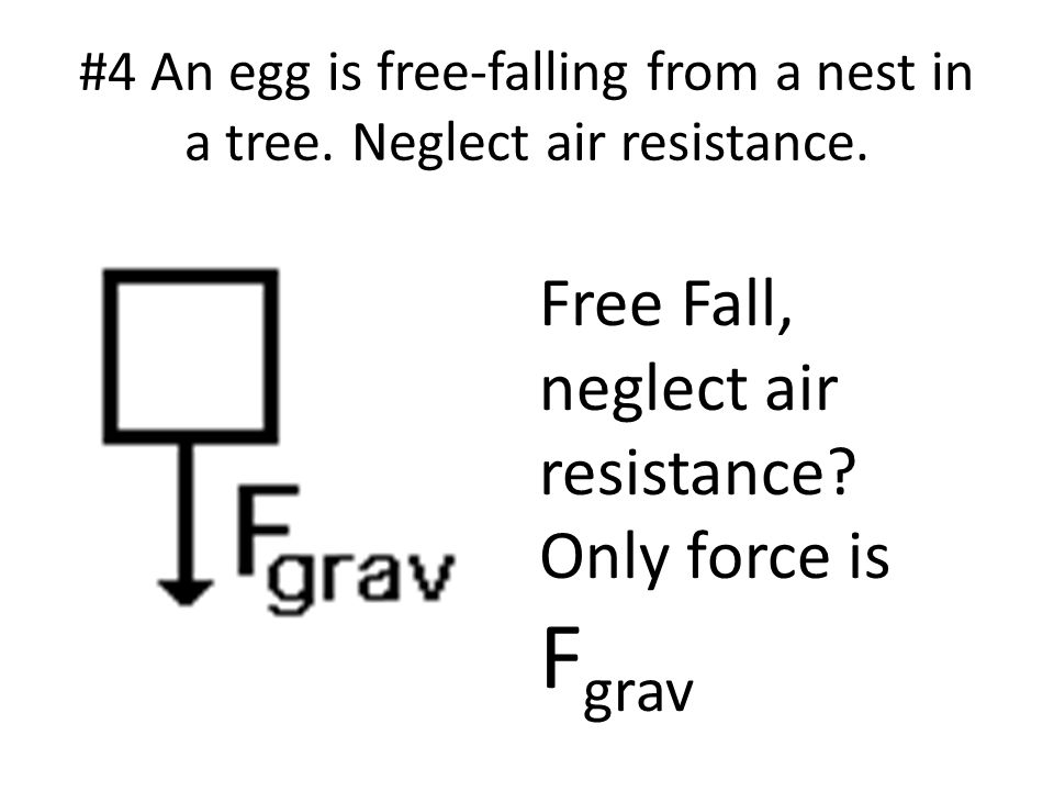 Free Fall, neglect air resistance