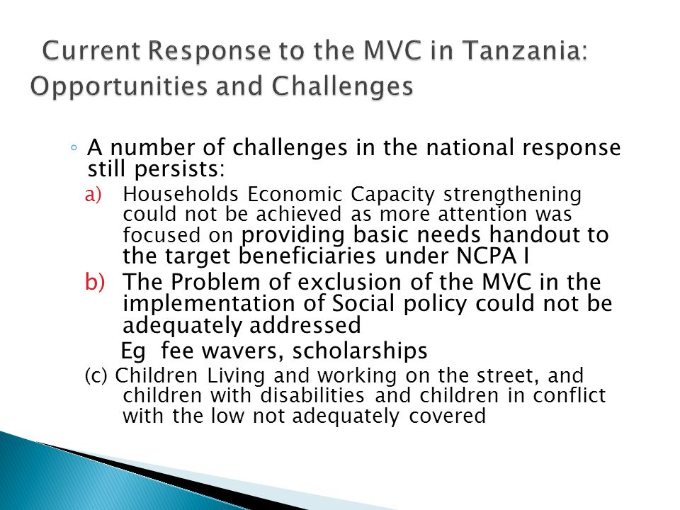 3 Current Response to the MVC in Tanzania: Opportunities and Challenges