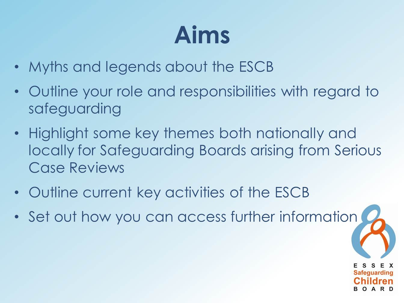 Aims Myths and legends about the ESCB