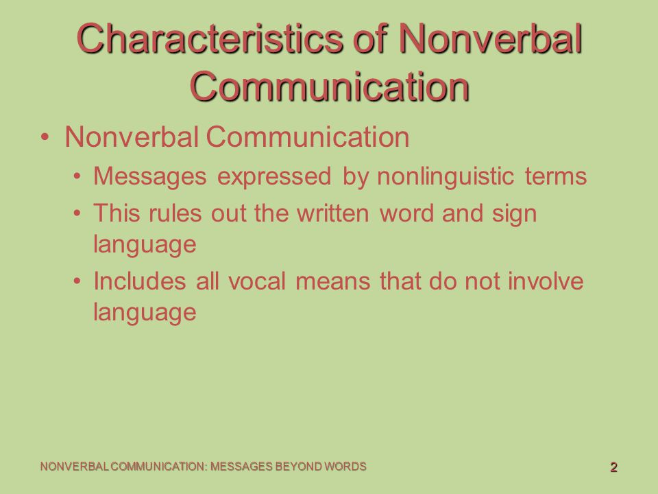Nonverbal Communication - ppt download