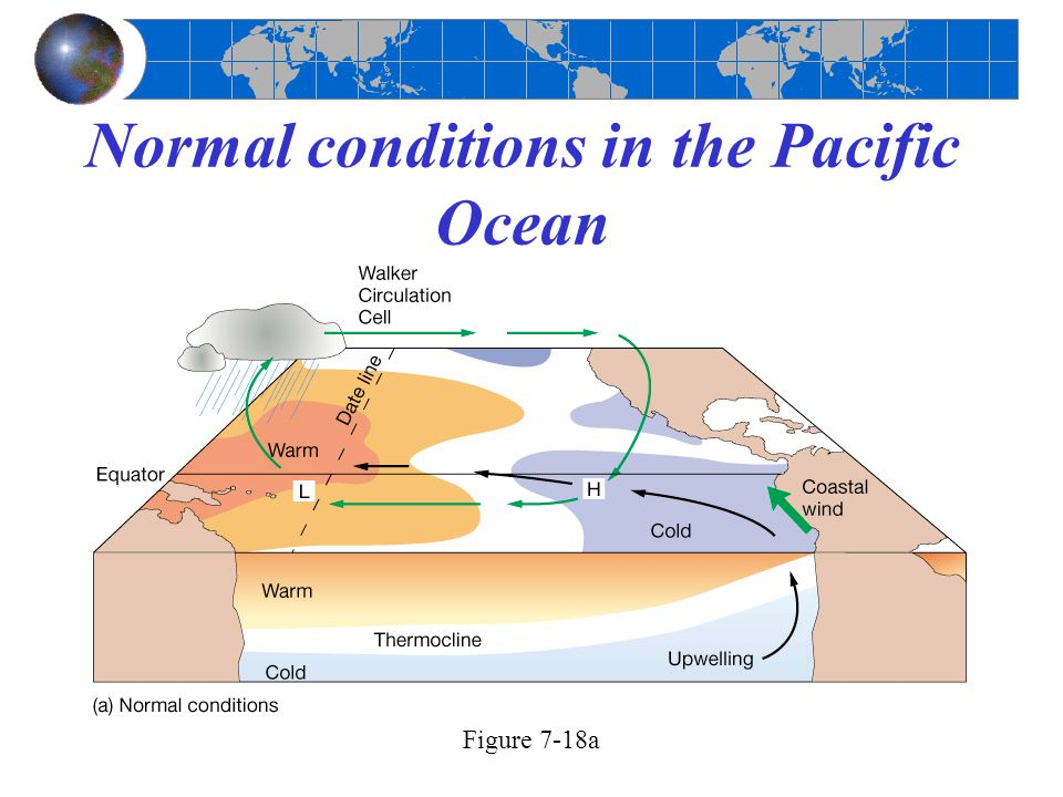 Normal conditions in the Pacific Ocean