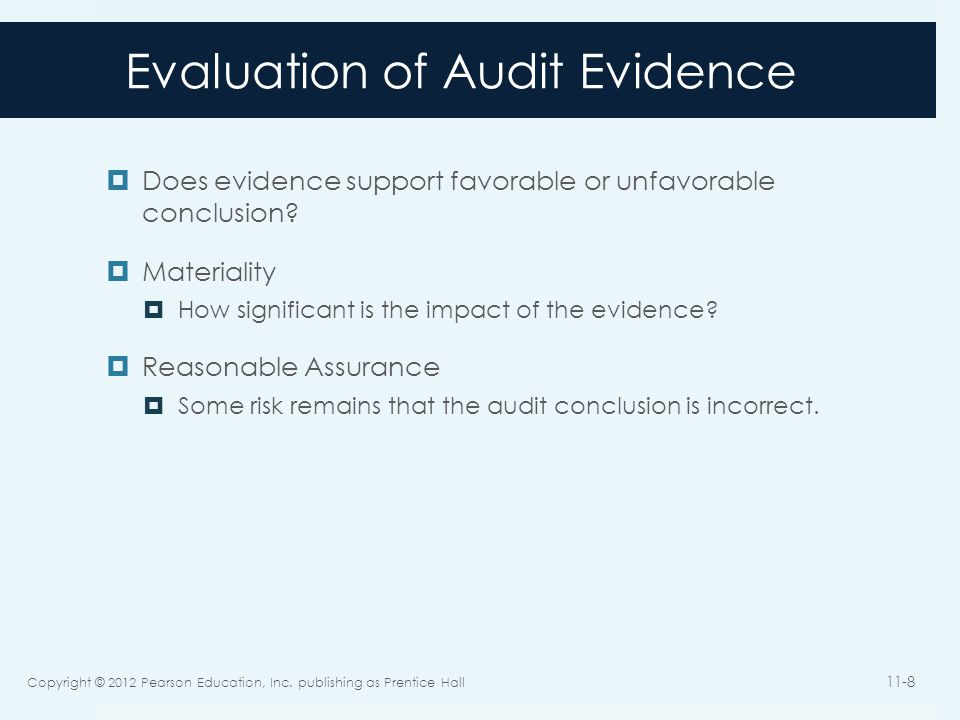 Evaluation of Audit Evidence