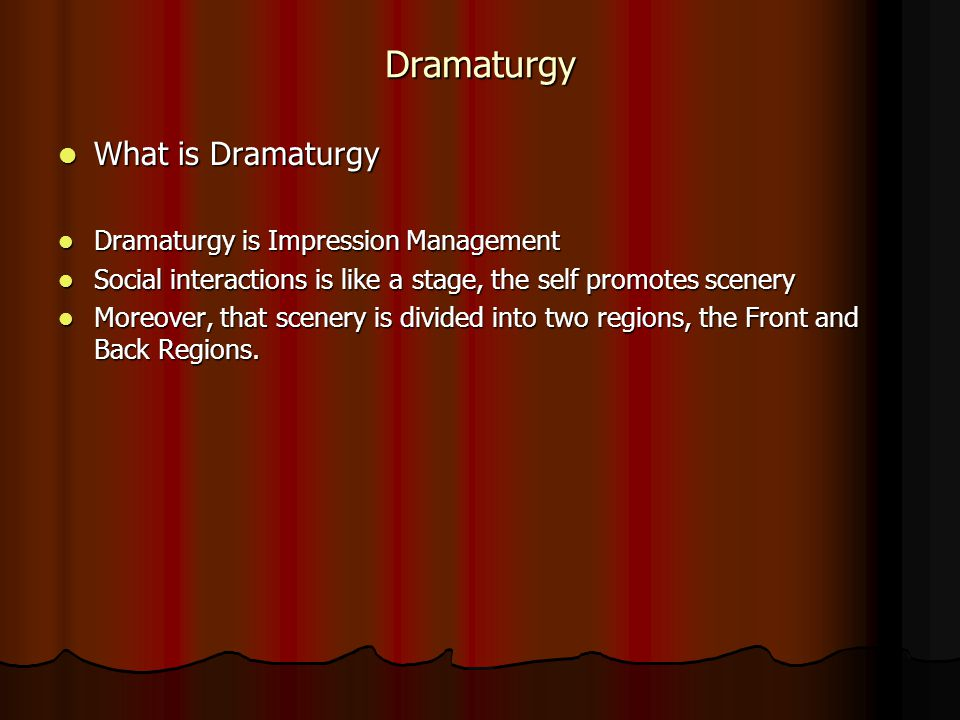 erving goffman theory of dramaturgy