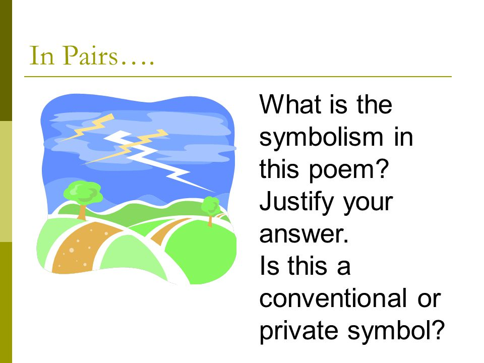 an analysis of the symbolism in Symbolism definition, the practice of representing things by symbols, or of investing things with a symbolic meaning or character see more.