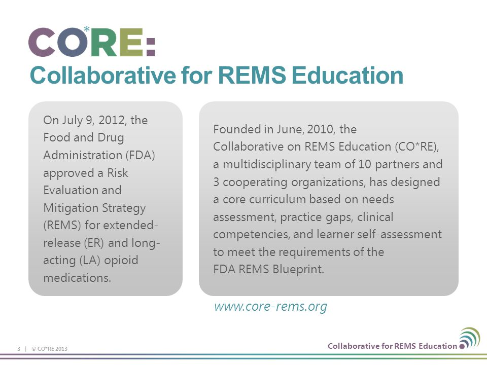 Presented by core collaboration for rems education ppt download collaborative for rems education malvernweather Choice Image