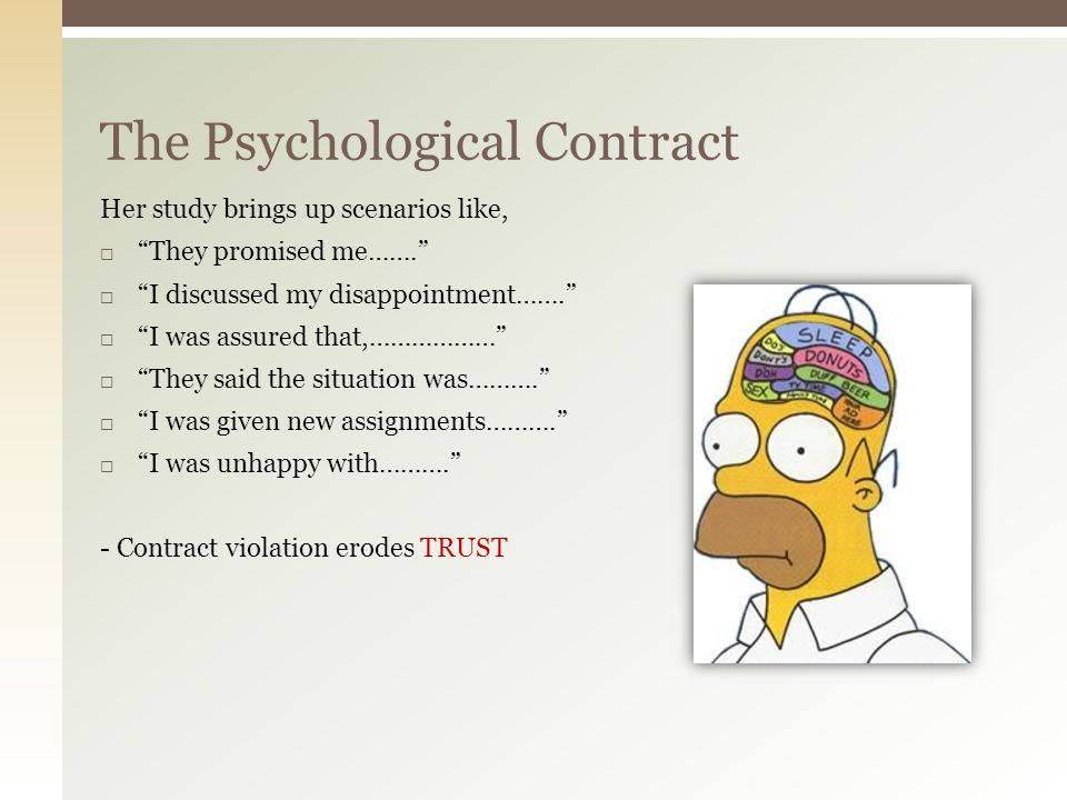 The Psychological Contract Violations And Modifications Ppt Video