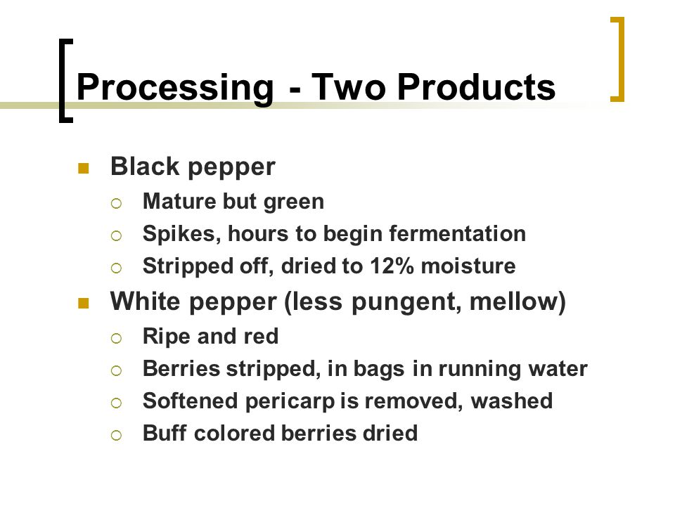 Processing Two Products
