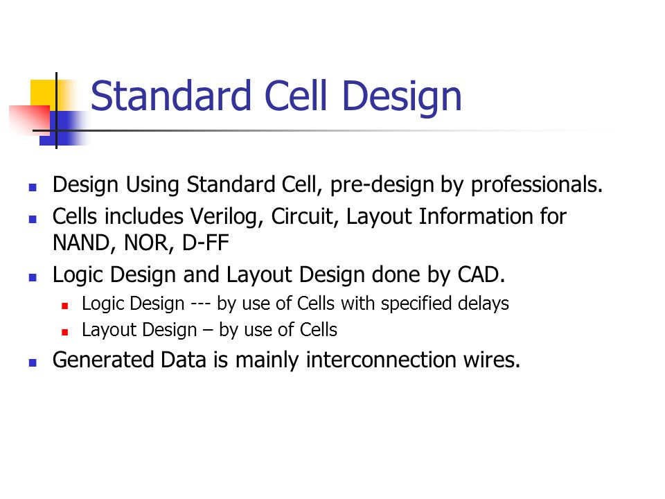 Ch 3 Overview of Standard Cell Design - ppt video online download