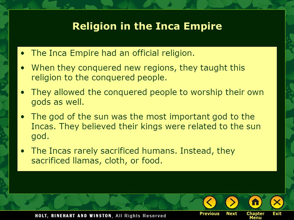 religion of inca empire