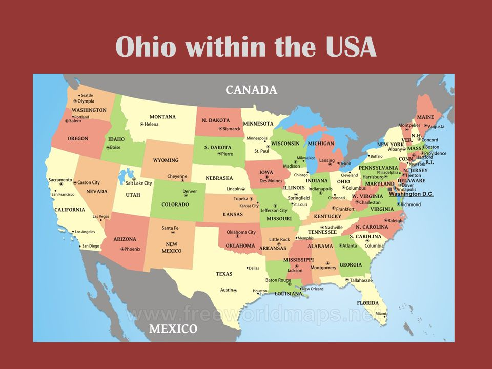 Geography Map Of Ohio.The Geography Of Ohio Unit 1 Lesson Ppt Download