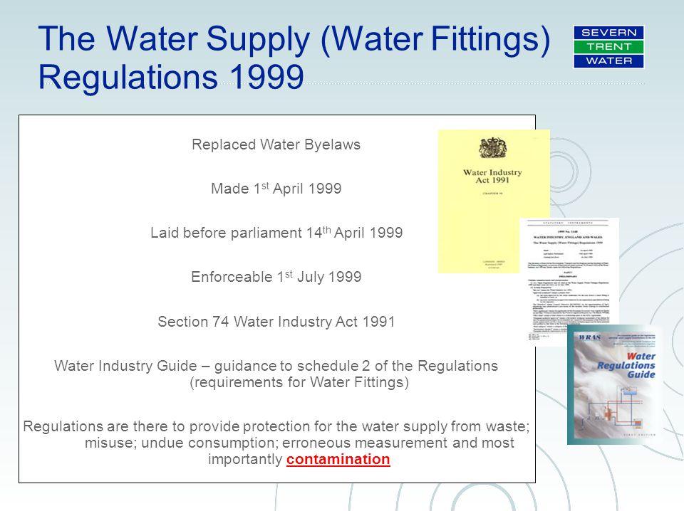 garry boorman principal advisor public health standards ppt rh slideplayer com water regulations guide free download water regulations guide