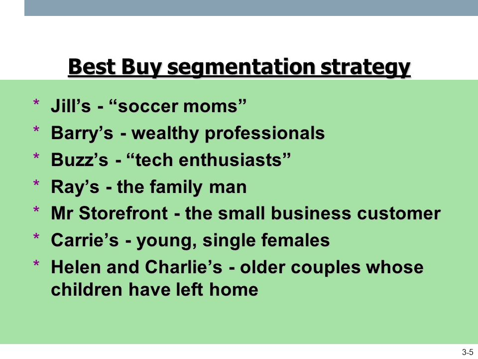 best buy market segmentation