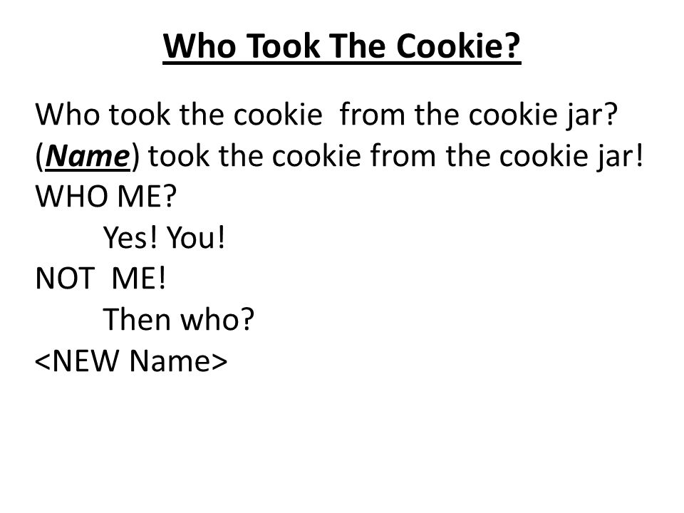 Who Stole The Cookie From The Cookie Jar Lyrics New Who Took The Cookie From The Cookie Jar House Cookies