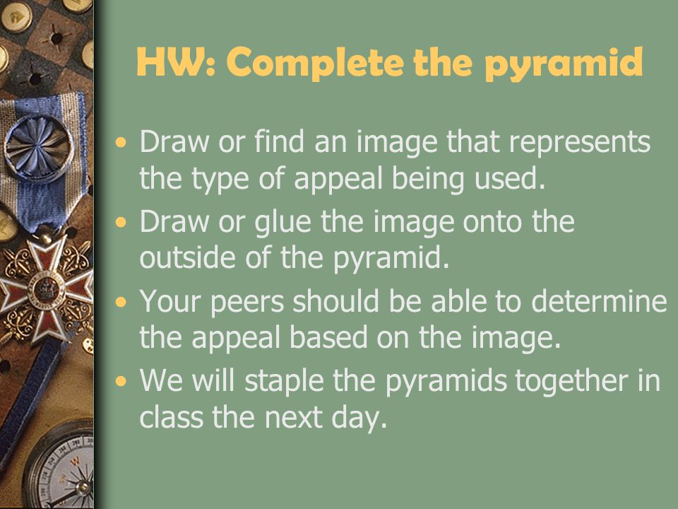 HW: Complete the pyramid