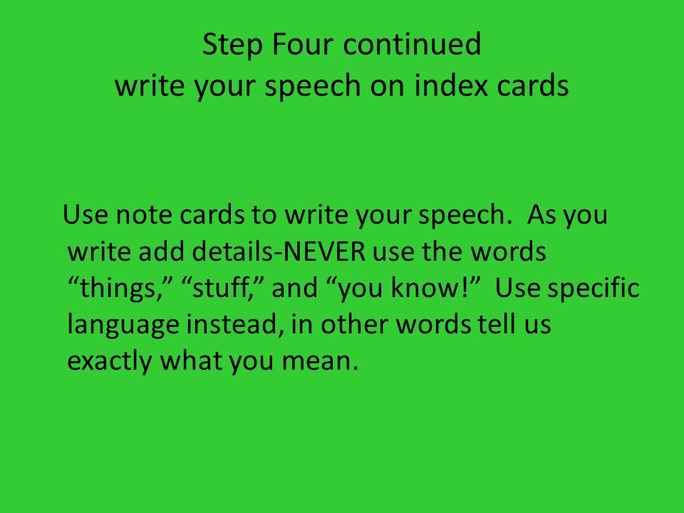 things to write a speech about