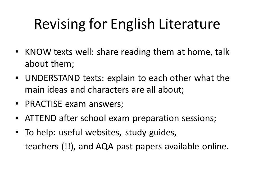 English Language and English Literature GCSEs AQA Specification A